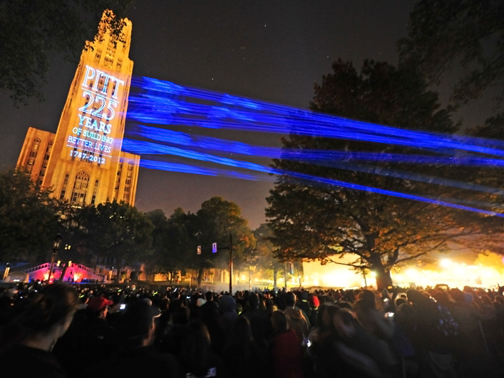 Lightwave International provides laser special effects and special event production for the University of Pittsburgh and other prestigious schools of higher education.