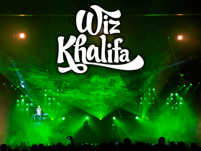Lightwave International Laser Special Effects on Wiz Khalifa's Tour