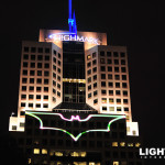 For the filming of the Dark Night Rises Lightwave International projected Batman's iconic Bat Signal across skyscrapers using a powerful laser array