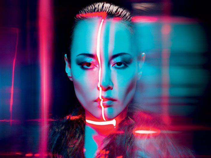Rinko Kikuchi for V Magazine with Lightwave International Laser Special Effects
