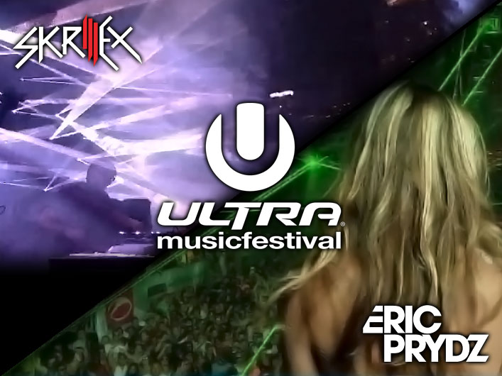 Skrillex & Eric Prydz at Ultra Music Festival with Lasers and Phenom by Lightwave International